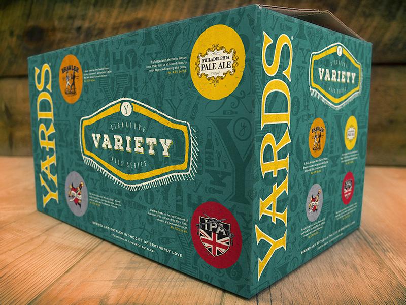 Yards Variety Case mockup yards package design packaging beer mockup