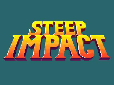 Steep Impact logo 8 bit 16 bit arcade nintendo metroid beer videogame pixel