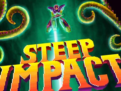 Steep Impact - beer label detail 1 retro gaming illustration 8 bit 16 bit pixel videogame beer super metroid metroid snes nes nintendo
