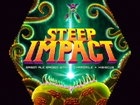 Steep Impact - finished beer label