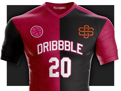 Hello Dribbble ! typography soccer sports logo branding logo illustration