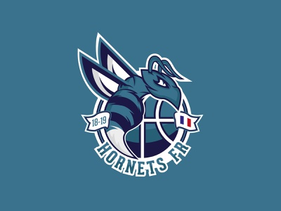 Hornet Logotype hornets hornet logo design logo sports brand illustration branding basketball