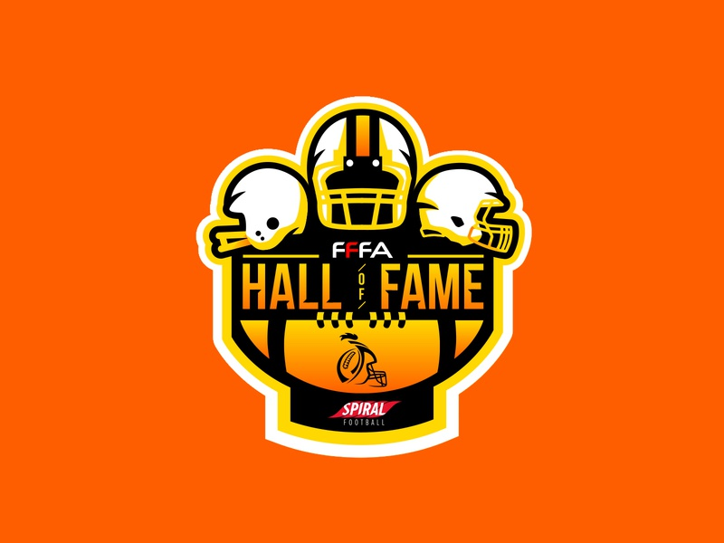 """FFFA Hall of Fame""  |  Logotype sports football typography sports brand logo illustration branding"