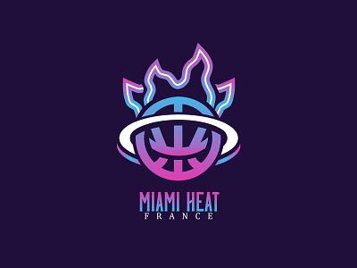 Miami Heat Vice Edition - Concept Logotype miami heat basketball logo logo sport basketball logo sports brand illustration branding