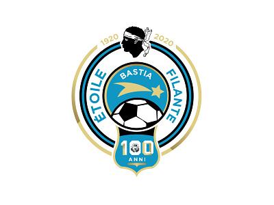 Étoile Filante Bastiaise - 100 Anni Logotype soccer logo soccer logo sport sports brand illustration branding
