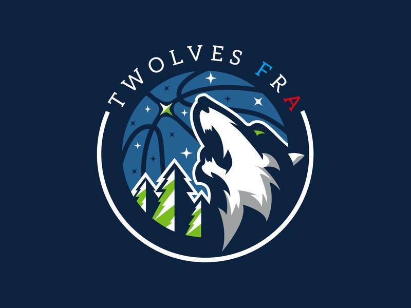Minnesota Timberwolves FRA minnesota timberwolves logo redesign basketball logo basketball logo sport logo sports brand illustration branding