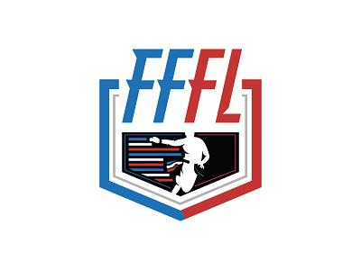 French Flag Football League - Official Logotype flag logo logotype design logotype sports logo sport logo sports brand illustration branding