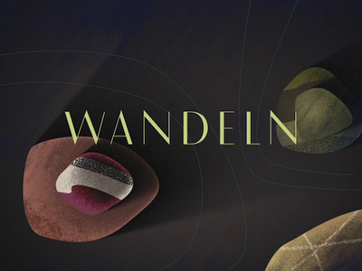 Wandeln 800x600 Intro Loop animation 2d animation animography wandeln motion design motion graphics animated type animated typeface