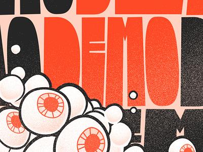 Eyeball Demo vector design motion graphics illustration motion design styleframes typography kynetictype eyes black orange eyeball demo sketch styleframe