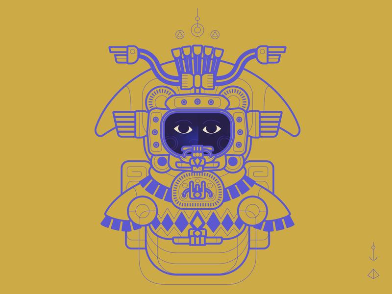 Ancient Astronaut 🛸 helmet time travel styleframe sketch wip pre astronautics ancient astronaut graphic design vector illustration illustration illustrator concept work in process vector still design animation 2d animation motion graphics motion design