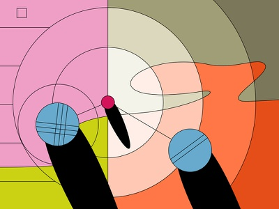 Pétanque 1/2 motion design motion graphics sketch concept styleframe circles boules petanque vector illustration design