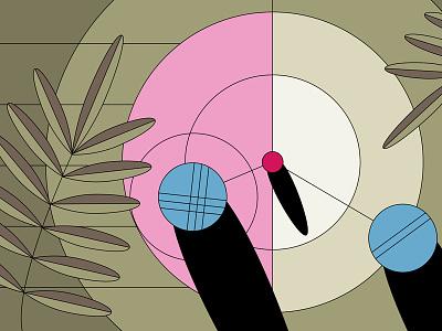 Pétanque 2/2 olive branch circles petanque boules sketch concept styleframe motion design motion graphics vector illustration design