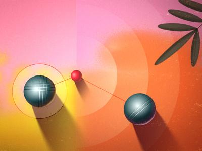 pétanque shading demo 1/3 concept boules vector sketch animation 2d animation illustration design motion graphics motion design