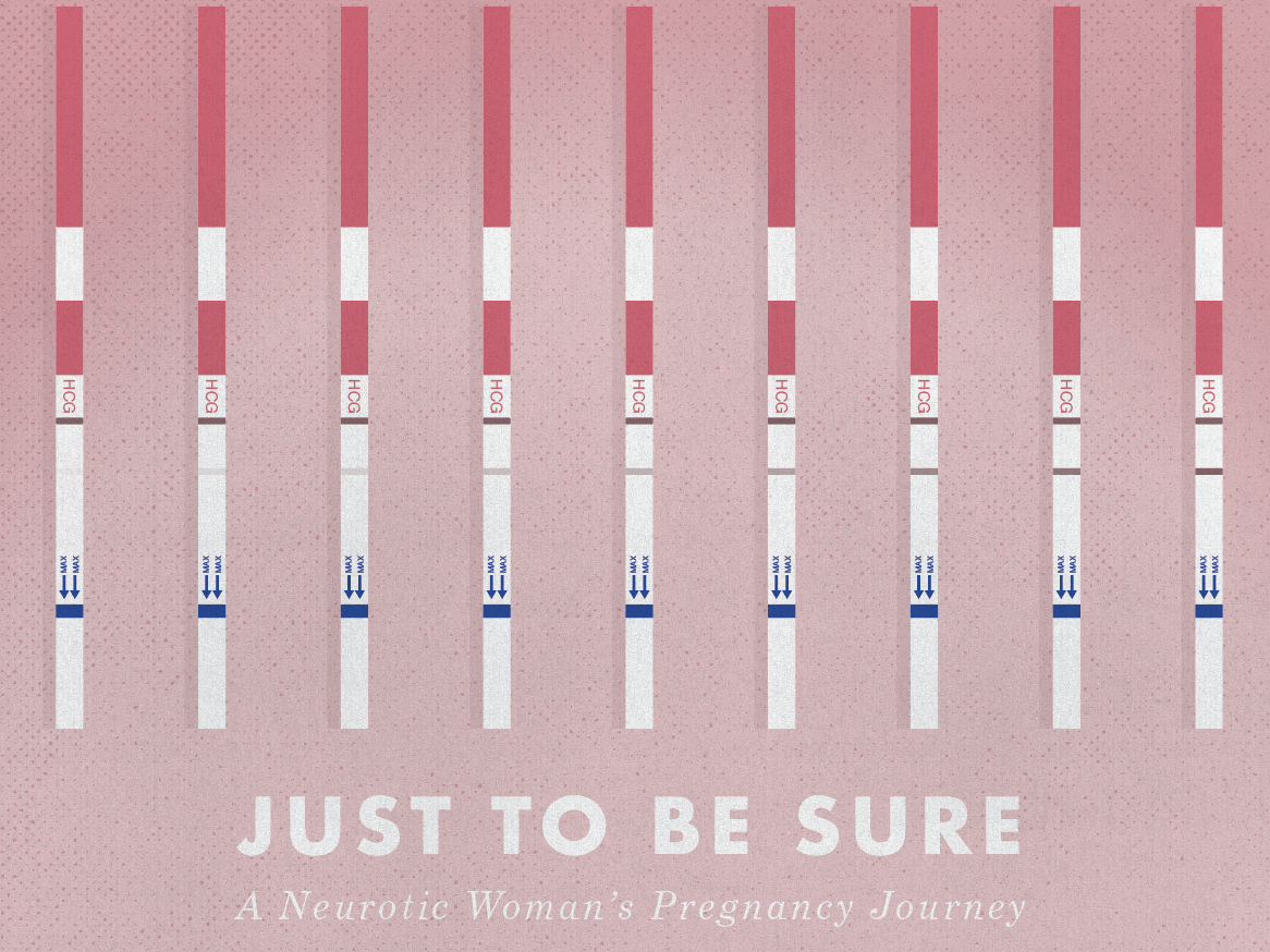 Just to be sure... pregnancy test personal work vector shape texture graphic design illustration pregnacy