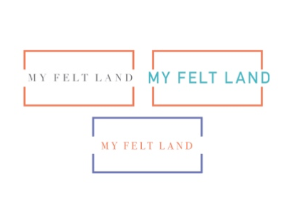 My Felt Land logo swatches brainstorm 99designs logo design logo