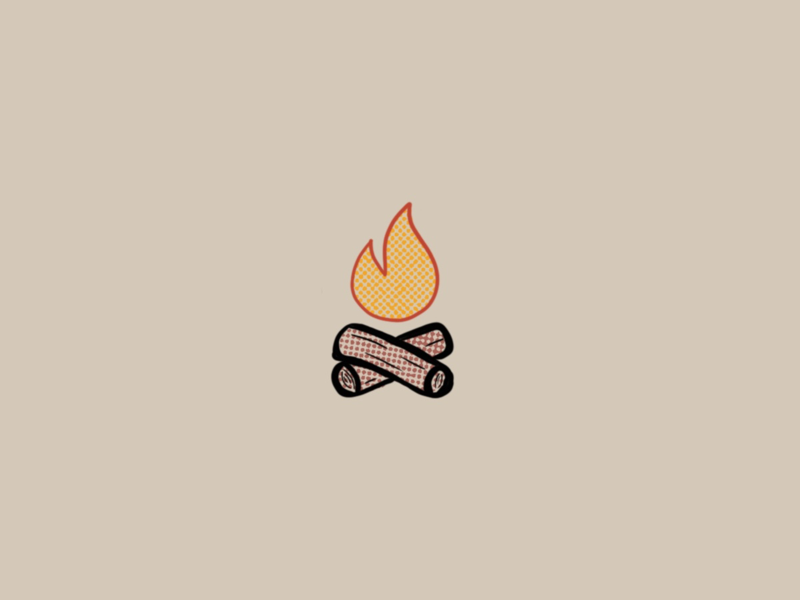 Campfire graphic designer creative market digital artist procreate illustration bonfire campfire