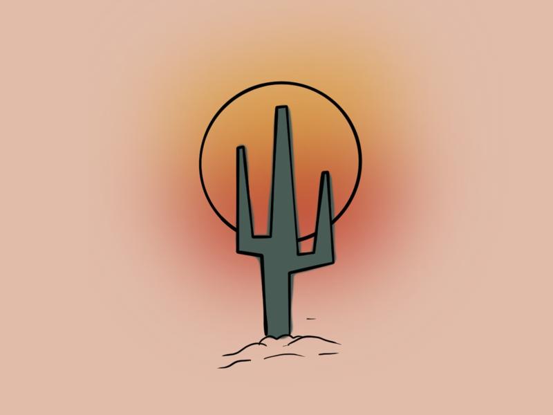 Desert sunsets graphic designer graphic design illustration procreate coachella desert