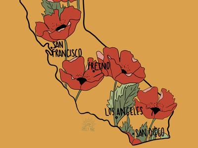 California poppy map