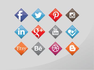 Social media icon set symbols