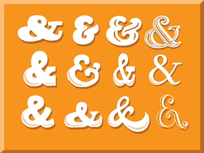 And & And icons and symbols graphic design elements study experiment playing ampersand vintage old retro symbol logogram typography font lettering free
