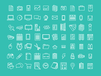 Icons Office & Work: Free by Tim Degner on Dribbble