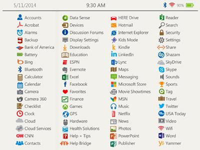 Microsoft icons windows phone concept metro