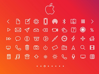 Free Apple Icons iOS 7 icons apple freebie vector download redesign ios7 iphone concept mobile apps interface