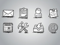 Office Icons: Hand Drawn, Sketch