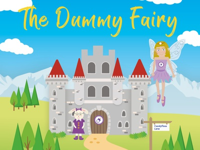 The Dummy Fairy Front cover update childrens illustration indesign