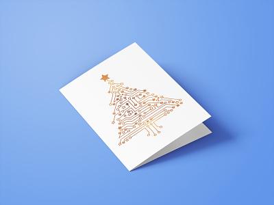 Christmas Card greeting card print design indesign illustrator
