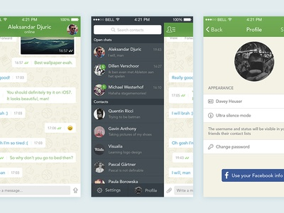 Whatsapp for iOS 7 [redesign]