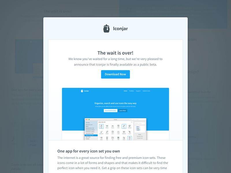 Iconjar Newsletter launch app mac app freebies iconjar newsletter
