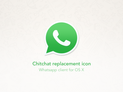 Chitchat replacement icon freebie el capitan yosemite replacement icon phone chat whatsapp chitchat osx icon replacement