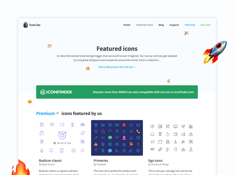 Featured Icons iconjar assets resource freebies icon design curated icons featured
