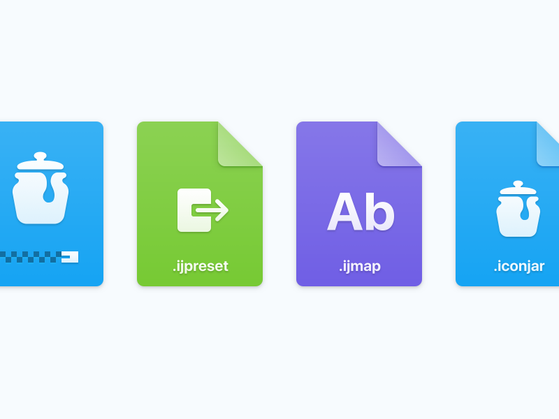 File type icons for IconJar mac app iconjar archive icon file macos icons file type