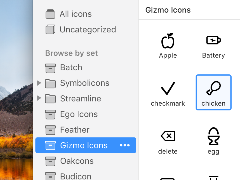 Some UI tweaks for IconJar mac mac os native app iconjar icons resources assets