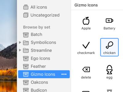Some UI tweaks for IconJar