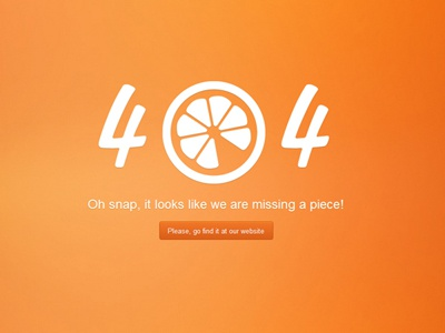 The missing piece 404 error page wordpress juicy graphics orange not found exist