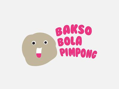 Bakso Bola Pimpong illustration design vector branding typography logo
