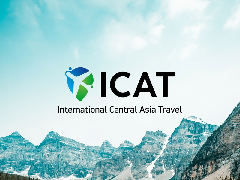 ICAT - Logo central asia asia icarus branding logo location love uzbekistan tour travel icat