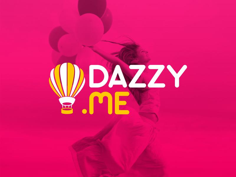 Dazzy.Me - Logo vector logotype logomark design branding identity brand event happy logo me dazzy daze