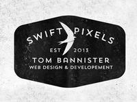 Swift Pixels Typography Logo