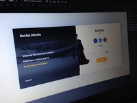 Social Movie Sign Up Page