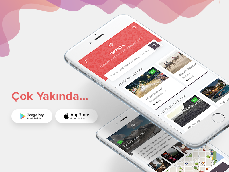 City Promotion App UI Design ux app mobil app card location city ui design ui
