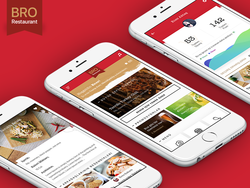 Restaurant App purchase mobile app ux ui design food cook restaurant