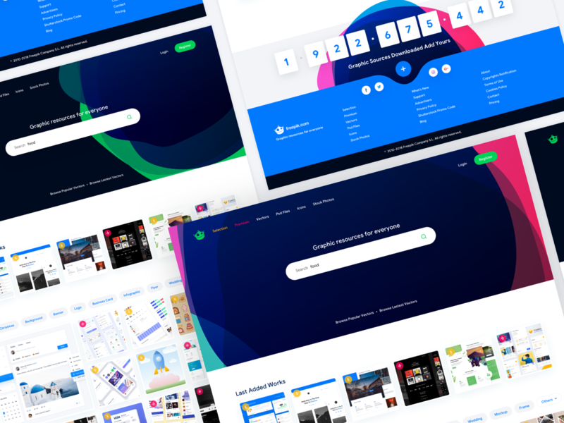 Freepik Concept Design landing page homepage concept vector free vector freepik design web design ux design ui design ux ui