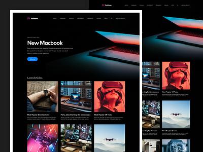 Technews Homepage news technology design home concept card web design ux design web ui design ux ui