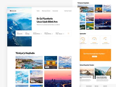 Turna Flight Search Homepage Concept turkey flight search web design concept home travel flight search card ux design web ui design ux ui