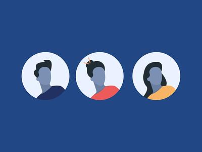 First Illustration free illustration men women human illustration avatar design vector illustration