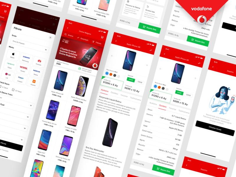 🏆Vodafone Designathon 🥉3rd Winner E-Shop Mobile App designathon hackathon mobile app vodafone e-shop e commerce purchase phone mobile winner story mobile shop ux design interaction design store buy mobile device
